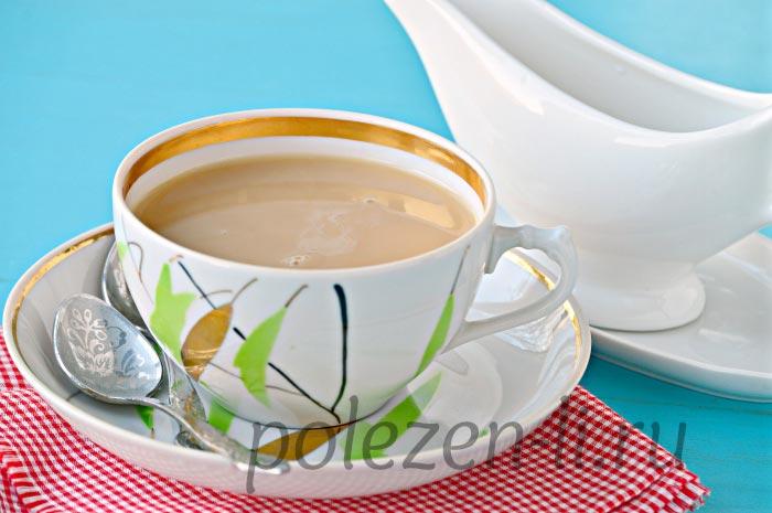 Вреден или нет чай с молоком