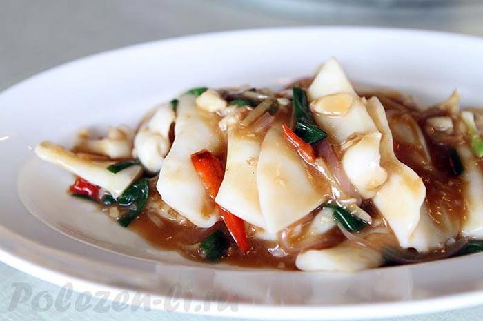 Фото блюда с кальмарами