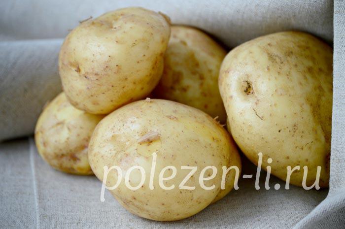 Фото картофель целый корнеплод