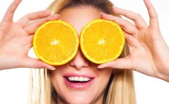 девушка с апельсинами