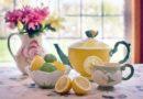 Фото чая с лимоном сервиз на столе